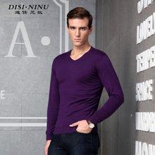 迪仕·尼奴秋季新品男士棉质T恤修身舒适打底衫男上衣针织衫0063