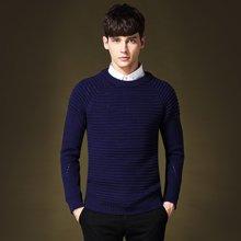 史克维斯男士圆领毛衫青年修身套头毛衣男冬季保暖韩版针织衫Z8091