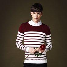 史克维斯秋冬季男士毛衣男韩版套头棉圆领线衣外套打底针织衫男装Z8090