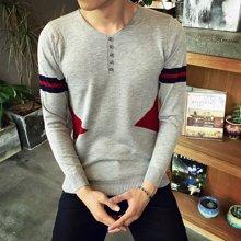 史克维斯秋季男士毛衣 韩版V领长袖套头针织衫冬季线衣男装薄毛衫外套M305