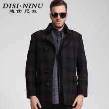 迪仕尼奴冬款男装呢大衣 羊毛呢大衣 獭兔毛领呢大衣 中长款8242C