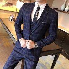 Guuka/古由卡西服套装男士三件套青年韩版修身套装西装伴郎新郎结婚礼服正装英伦风XZ-1665