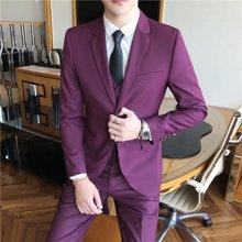 Guuka/古由卡男士西装三件套全套装西服四季套装新款男生一整套青年男土冬季正装XZ-1653