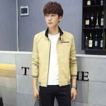 史克维斯秋季新款外套男装青年韩版修身上衣服纯棉夹克衫J102