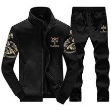 史克维斯卫衣套装 2017春装新款男装卫衣 男士时尚休闲印花运动服套装STD38