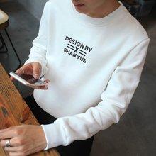 史克维斯秋季新品韩版潮牌圆领套头男版卫衣青年薄外套宽松上衣Y26