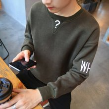 史克维斯春季新款圆领男装套头新款卫衣韩版卫服男士学生潮ZY11
