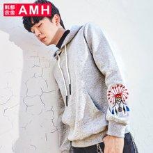 AMH男装韩版2017秋季新款青年学生潮流连帽长袖卫衣男士PA7425薬