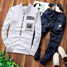 史克维斯卫衣套装男春秋套头休闲套装衣服外套春季运动套装TD58