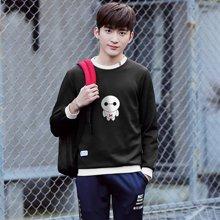 史克维斯韩版长袖t恤男圆领打底衫青少年上衣体恤卫衣男士修身衣服潮W205