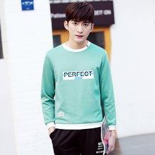 史克维斯春季潮男卫衣 2017新款韩版学生圆领套头男士卫衣W208