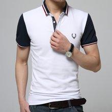 史克维斯夏季翻领t恤男短袖 潮流修身半袖体恤男polo衫韩版男装夏天上衣服 衫ST1612