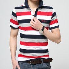 史克维斯条纹男士短袖t恤POLO衫夏季男装翻领中年POLO衫半袖男潮ST1618