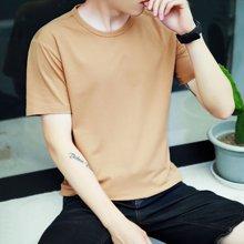 史克维斯学院风短袖T恤男士纯棉韩版修身夏装新款潮男半袖上衣TS01
