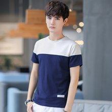 史克维斯夏季新款男装体恤学生半袖青少年上衣服韩版潮流男士短袖t恤T08GT