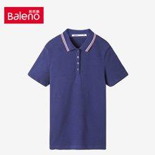 Baleno/班尼路 运动休闲纯色撞色领女士短袖POLO衫 88703102
