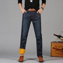 史克维斯加绒牛仔裤男 2016冬装新款 男士弹力修身韩版青年牛仔长裤K7006