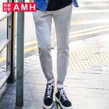 AMH 男装 2017春季新款韩版男士修身小脚休闲裤慢跑裤青年