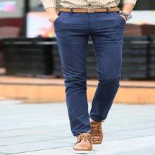 史克维斯休闲裤男士磨毛长裤子春季青年男装修身型直筒春夏男裤潮SK8188