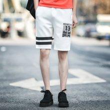 史克维斯夏季薄款宽松针织卫裤五分裤男 加大码休闲运动短裤SK06
