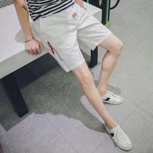 史克维斯夏季新款韩版男装短休闲裤修身直筒中裤五分裤男短裤潮K12