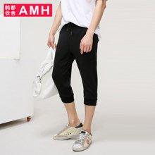 AMH男装韩版2017夏季新款青年学生宽松七分休闲裤男潮流