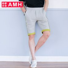 AMH男装韩版2017夏季新款青年休闲五分裤
