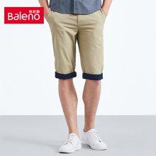 Baleno/班尼路 男士卷边修身短裤 88710024