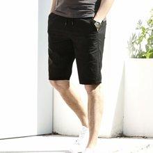 Guuka/古由卡男士五分裤夏季薄款休闲青年修身直筒纯棉免烫潮流百搭常规短裤FN-S6022