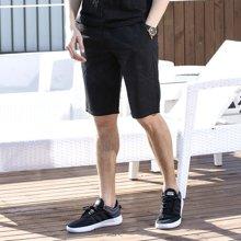Guuka/古由卡男士五分裤夏季薄款青少年休闲运动裤修身潮流直筒纯棉常规短裤FN-S6026