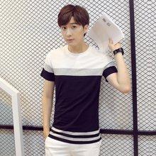 卓狼男士短袖T恤夏季条纹圆领t棉修身韩版夏天体恤打衫潮ZT1602