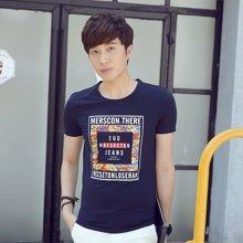 卓狼男装男士短袖t恤夏季体恤3D立体浮雕个性创意潮上衣ZT1688
