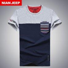 NIAN JEEP新款纯棉男士短袖t恤男装夏季体恤圆领男套头半袖2016