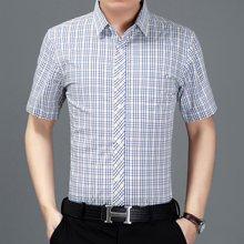 梵蒂古琦短袖衬衫休闲纯棉男装夏季新款短袖7157