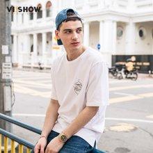VIISHOW夏装新款圆领套头休闲短袖T恤男动漫印花男士短T7 TD1456172