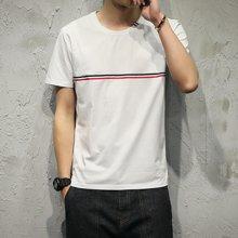 芃拉新款男装横杆短袖T恤 日系模特XFSGT33122