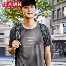 AMH韩版男装夏装2018新款潮流青年印花套头短袖T恤男ONV8165璟