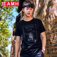 AMH韩版男装2018夏季新款潮流青年时尚套头短袖T恤男OOD8471璟