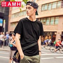 AMH韩版男装夏装2018新款潮流青年印花休闲套头短袖T恤男OJ8140燊