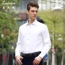 蓝天龙 新款 纯棉白色商务长袖正装 8791