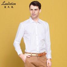 蓝天龙男士商务衬衣休闲白色长袖衬衫8776