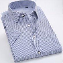 魔力怪车 韩版修身商务大码休闲免烫夏款印花短袖衬衫男士短袖衬衫男装