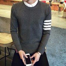 卓狼秋季男士毛衣韩版圆领套头针织衫青年薄款线衣男装长袖毛衫M307