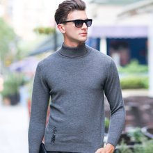 沐羊新款高领男式毛衣纯羊毛衫 男士青年长袖高翻领羊毛衫60668