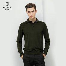 羊毛衫男款秋冬新款OJACK欧尼杰男纯色T恤时尚舒适修身男 8623