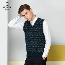 OJACK欧尼杰2017新款针织羊毛背心休闲套头羊毛衫修身衫 9638