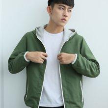 卓狼男士运动休闲夹克外套连帽双面穿开衫韩版卫衣7731