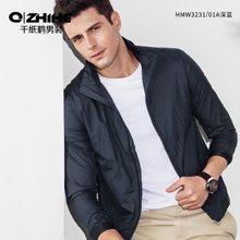 千纸鹤夹克外套男 春款青年男士修身立领夹克衫 简约薄款外衣  HMWT3231