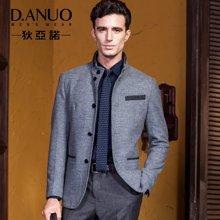 狄亚诺 秋装新款商务休闲男士修身立领西装 便装单西 外套西服男(215250)