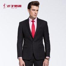 TRiES-才子新款春季新款男士合体纯色商务正装单粒扣西服套装男装2066E0911